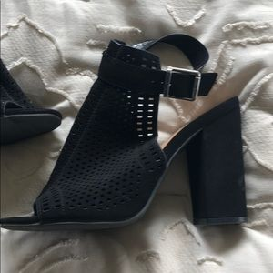 Black heels with ankle straps